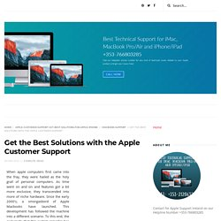 Get the Best Solutions with the Apple Customer Support - Apple MacBook Support Number +353-766803285