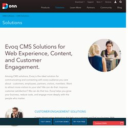 CMS Solutions, Customer Engagement Solutions - DNN Software