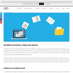 Solutions M-Files pour la dématérialisation des documents