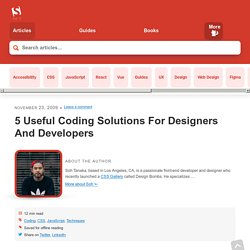 5 Useful Coding Solutions For Designers And Developers - Smashing Magazine