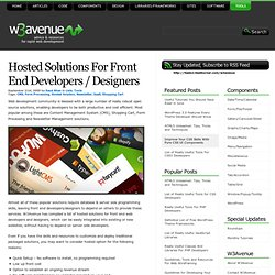 Hosted Solutions For Front End Developers / Designers