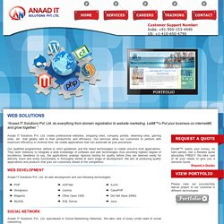Web Solutions, Website Development, E-commerce, .Net, Web Designing