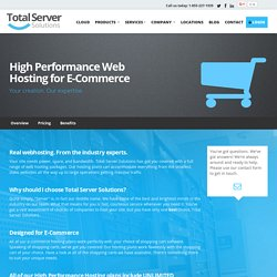 E-Commerce Hosting Solutions