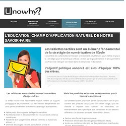 NOS SOLUTIONS POUR L'EDUCATION
