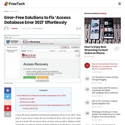 Error-Free Solutions to Fix 'Access Database Error 3021' Effortlessly