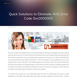 Quick Solutions to Eliminate AVG Error Code 0xc0000005