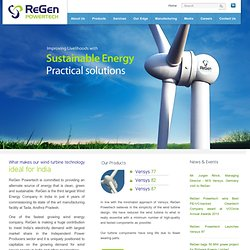 ReGen Powertech - Madhusudhan Khemka led Initiative for Wind Energy Solutions
