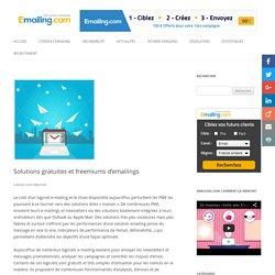 Solutions gratuites et freemiums d'emailings