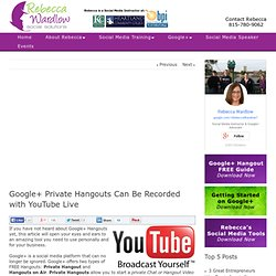 Google+ Private Hangouts Can Be Recorded With YouTube