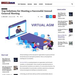 Top Solutions for Hosting a Successful Annual General Meeting - Orgella Online