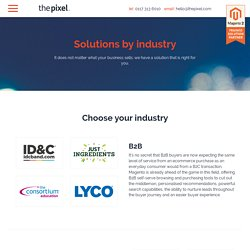 Solutions by industry - The Pixel