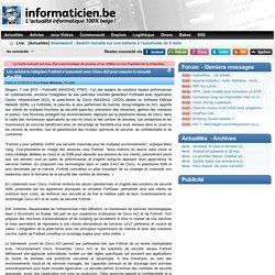 Les solutions intégrées Fortinet s'associent avec Cisco ACI pour assurer la sécurité des SDN - Press Releases