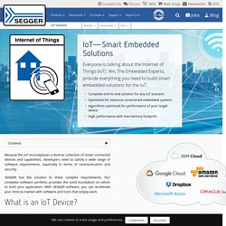 Solutions for the Internet of Things by SEGGER - The Embedded Experts