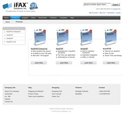 Solutions : Internet and Enterprise Fax Server Software
