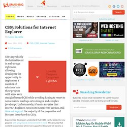 CSS3 Solutions for Internet Explorer