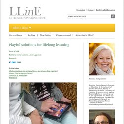 Playful solutions for lifelong learning - LLinE