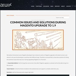 Common issues and solutions during Magento upgrade to 1.9