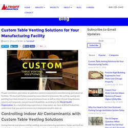 Custom Table Venting Solutions for Your Manufacturing Facility