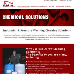 Chemical Pressure Washing Cleaning Solutions Denver