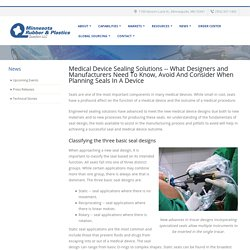 Medical Device Sealing Solutions - Minnesota Rubber and Plastics