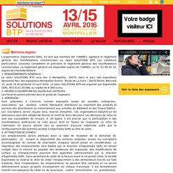 Salon Solutions BTP - Montpellier - Mentions légales
