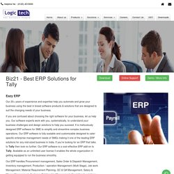 Biz21 - Eazy ERP solutions for Tally with Multiple Users - Logictech