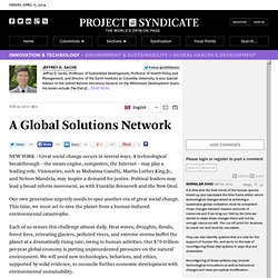 A Global Solutions Network by Jeffrey D. Sachs