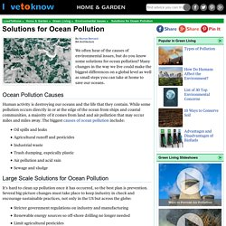 Solutions to Stop Ocean Pollution
