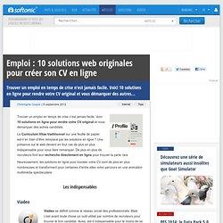 Emploi: 10 solutions web originales pour créer son CV en ligne