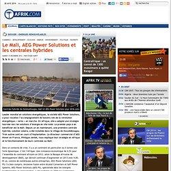 Le Mali, AEG Power Solutions et les centrales hybrides
