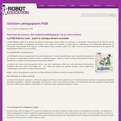 Solutions pédagogiques POB
