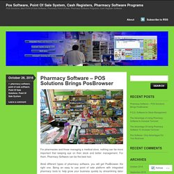 Pos Software, Point Of Sale System, Cash Registers, Pharmacy Software Programs