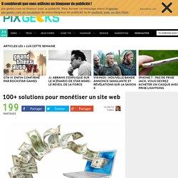 100+ solutions pour monétiser un site web