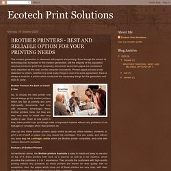 BEST AND RELIABLE OPTION FOR YOUR PRINTING NEEDS