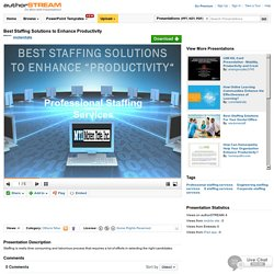 Best Staffing Solutions to Enhance Productivity