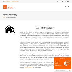 Retail, Real Estate Solutions And Property Management System Saudi Arabia