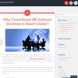 Why Cloud Based HR Software Solutions is Smart Choice?