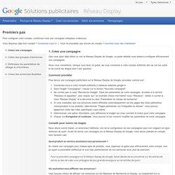 RéseauDisplay – Google Solutions publicitaires