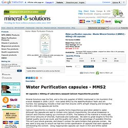 Water purification capsules - WPS2 - MMS2 - Master Mineral Solution 2