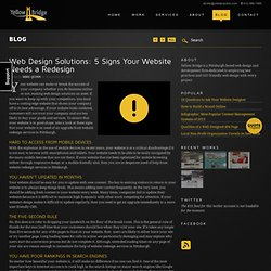 Web Design Solutions: 5 Signs Your Website Needs a Redesign