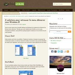3 solutions pour retrouver le menu démarrer sous Windows 8