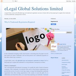 eLegal Global Solutions limited: Why Is Trademark Registration Required