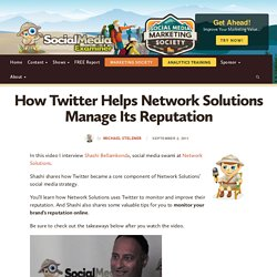 How Twitter Helps Network Solutions Manage Its Reputation