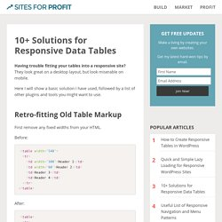10+ Solutions for Responsive Data Tables