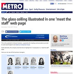 Cellular Solutions meet the staff page: Company ridiculed for gender imbalance online