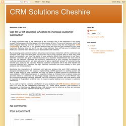 CRM Consultants and CRM Solutions Cheshire