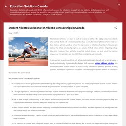 Student Athletes Solutions for Athletic Scholarships in Canada