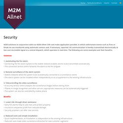 Solutions For Security Service Providers – M2M-Allnet