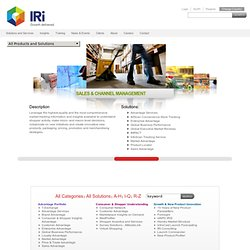 Solutions and Services - SymphonyIRI Group