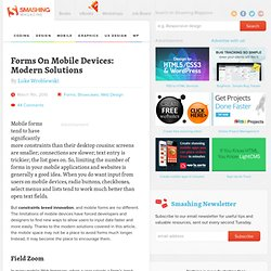 Forms On Mobile Devices: Modern Solutions